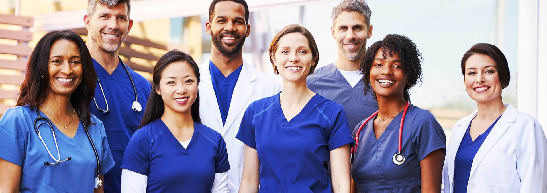 happy medical personnel