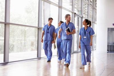 nurses walking