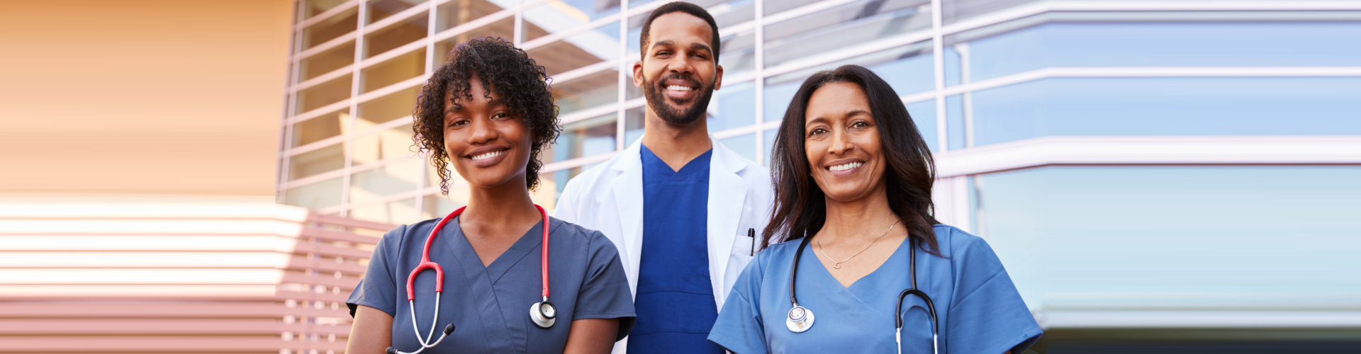 happy medical workers